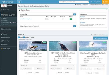 Online Event Registration Features - Surf Signup | Online Event ...